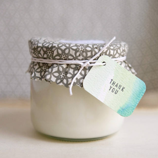DIY Eco Friendly Soy Candle Favors