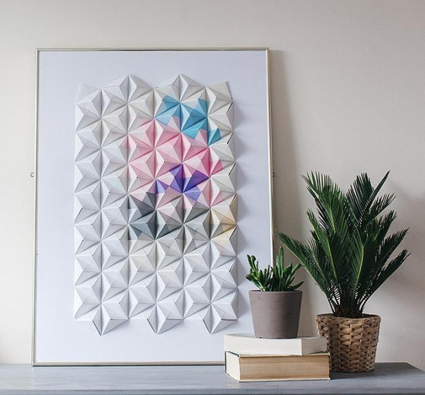DIY Origami Wall Display