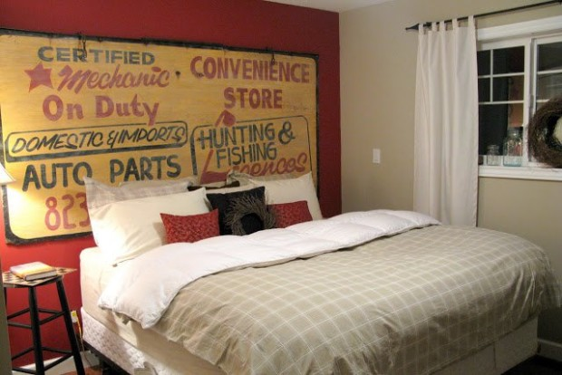 Use Sign As A Headboard