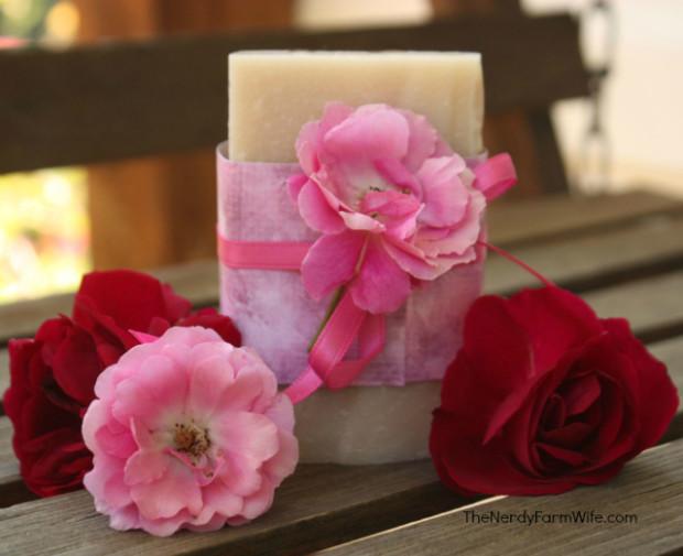 Rosa Rugosa Soap Recipe