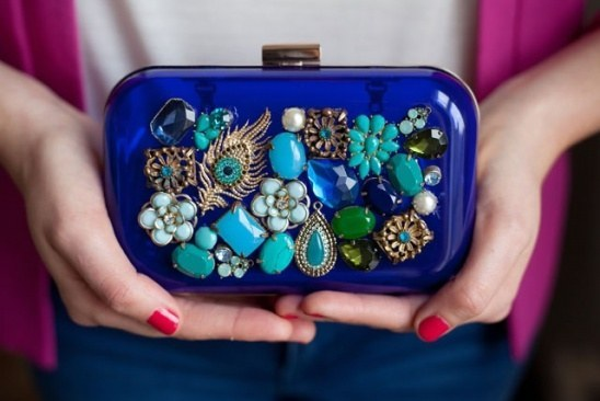 Upcycled Jewel Box Clutch