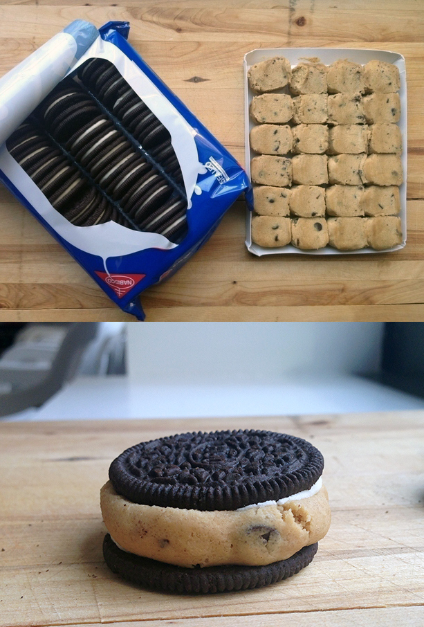 Make a package of cookie dough Oreos